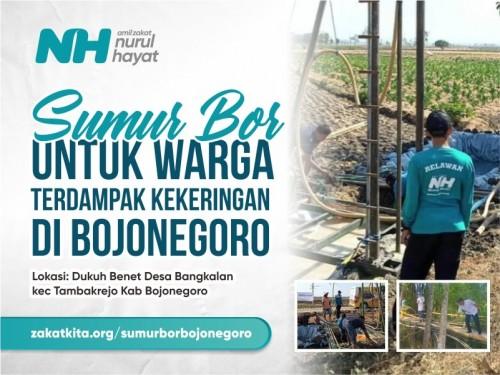Sedekah Jariyah Sumur Bor untuk Warga Bojonegoro