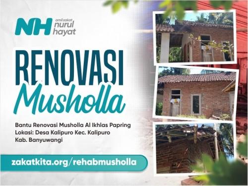 Renovasi Musholla Al Ikhlas