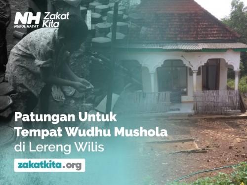 Patungan Tempat Wudhu Mushola di Lereng Wilis