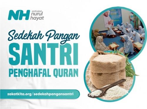 Sedekah Pangan untuk Santri Penghafal Al-Quran