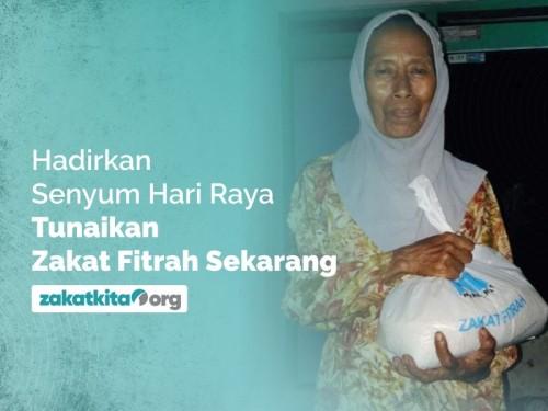 Bayar Zakat Fitrah Rp 37.000/ orang