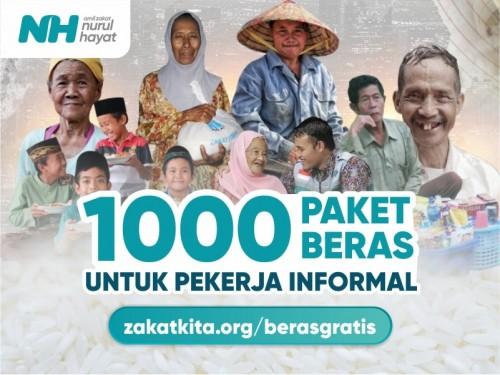 Berbagi 1000 Paket Beras untuk Pekerja Informal