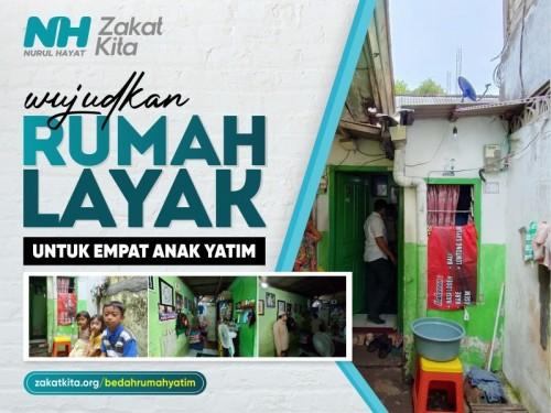 Rumah Layak Huni untuk 4 Anak Yatim