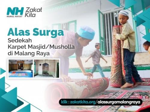 Alas Surga untuk Masjid & Musholla Malang Raya