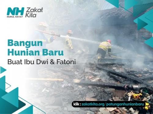 Rumah Hangus Terbakar, Patungan Hunian Baru untuk Bu Dwi