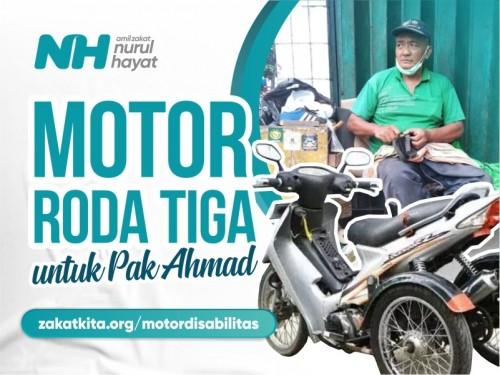 Motor Roda Tiga untuk Penyandang Disabilitas