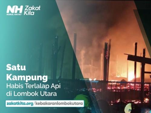 Bantu Korban Kebakaran Lombok Utara