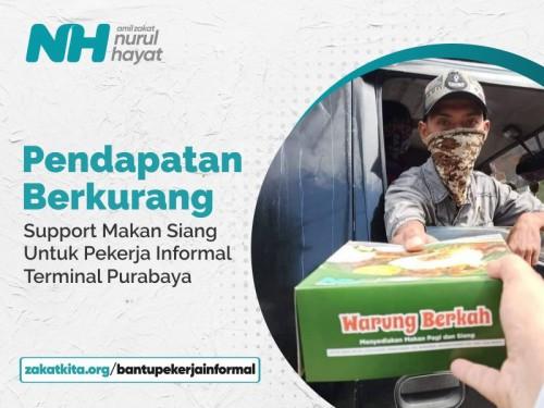 Bantu Pekerja Informal Terminal Purabaya