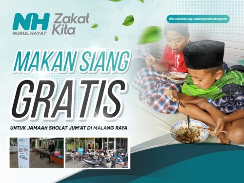 Sedekah Makan Siang Gratis untuk Jamaah Sholat Jumat