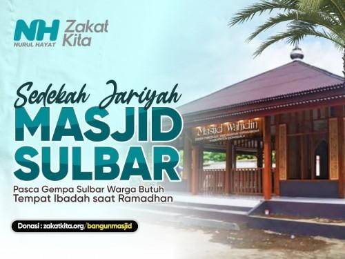 Peluang Jariyah, akan Dibangun 5 Masjid Pasca Gempa