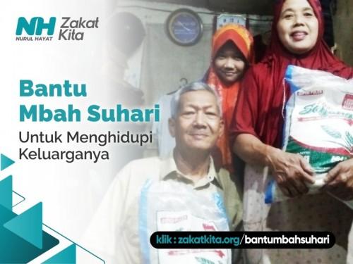 Bantu Mbah Suhari Menghidupi Keluarganya